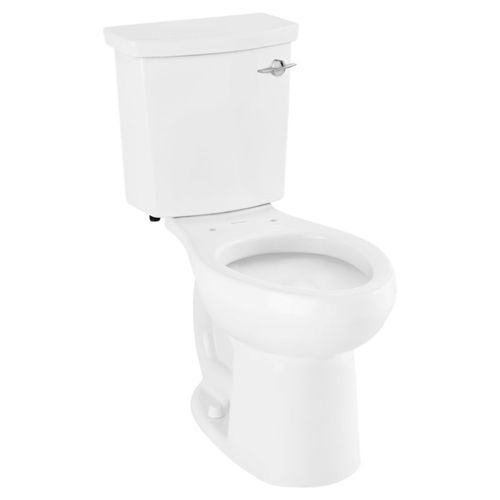 H2Option Elongated 0.92 gpf & 1.28 gpf Dual Flush Right Hand Trip Lever Two-Piece Toilet in White