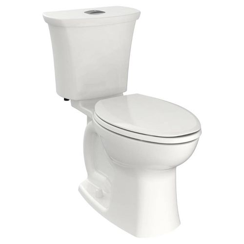 Edgemere Elongated 1.28 gpf Center Flush Button Two-Piece Toilet in White