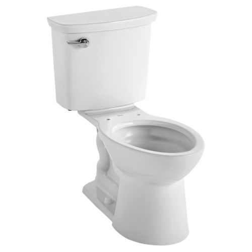 VorMax Elongated 1.0 gpf Two-Piece Toilet in White