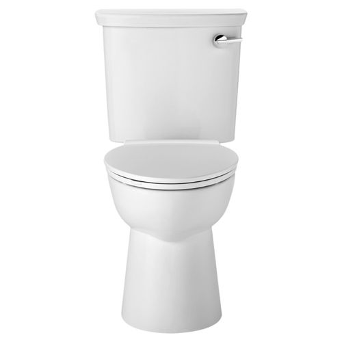 VorMax Elongated 1.0 gpf Right Hand Trip Lever Two-Piece Toilet in White