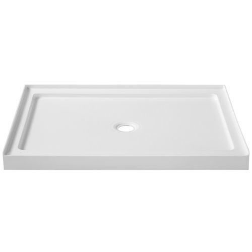 """Fissure 48"""" x 36"""" x 4"""" Acrylic Shower Base in White"""