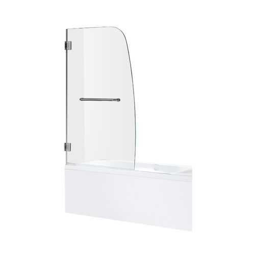 Grand Tempered Glass Frameless Tub Door in Polished Chrome
