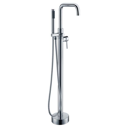 Moray Freestanding Roman Tub Filler Faucet in Polished Chrome