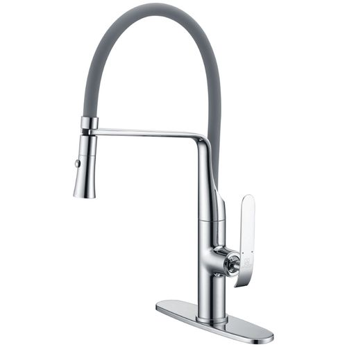 """Accent 19.69"""" Single-Handle Pull-Down Kitchen Faucet in Polished Chrome"""