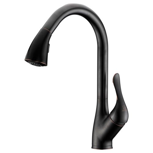 """Accent 16.43"""" Single-Handle Pull-Down Kitchen Faucet in Oil Rubbed Bronze"""
