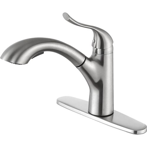 Navona Single-Handle Pull-Out Kitchen Faucet in Brushed Nickel