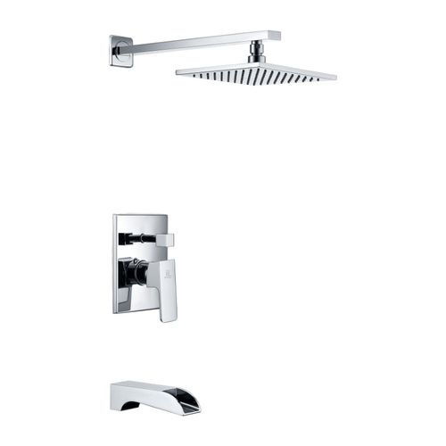 Mezzo Tub & Shower Faucet in Polished Chrome