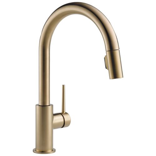 Delta Trinsic Pull-Down Kitchen Faucet in Champagne Bronze - 9159-CZ-DST