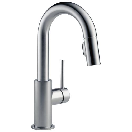 Delta Trinsic Bar Kitchen Faucet in Arctic Stainless 1.8 gpm - 9959-AR-DST