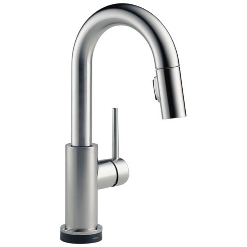 Delta Trinsic Bar Kitchen Faucet in Arctic Stainless with Touch Control - 9959T-AR-DST