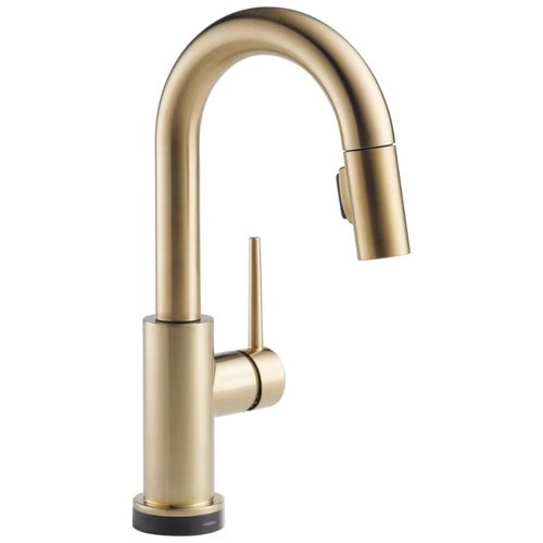 Delta Trinsic Bar Kitchen Faucet in Champagne Bronze with Touch Control - 9959T-CZ-DST