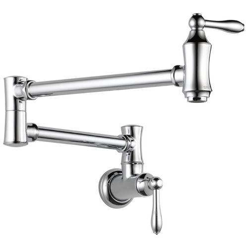 Delta Traditional Pot Filler Kitchen Faucet in Chrome - 1177LF