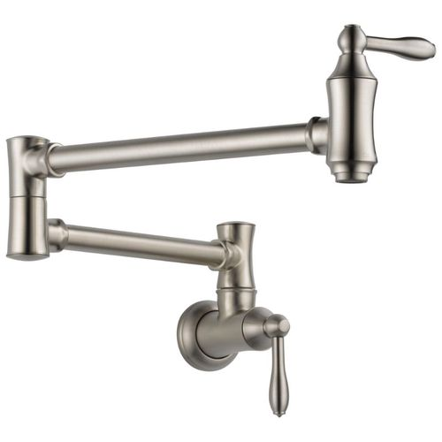 Delta Traditional Pot Filler Kitchen Faucet in Stainless - 1177LF-SS