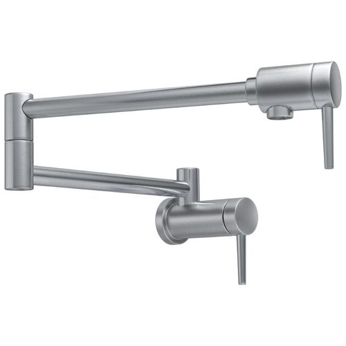 Delta Contemporary Pot Filler Kitchen Faucet in Arctic Stainless - 1165LF-AR