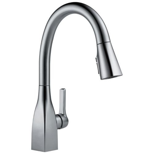 Delta Mateo Pull-Down Kitchen Faucet in Arctic Stainless - 9183-AR-DST