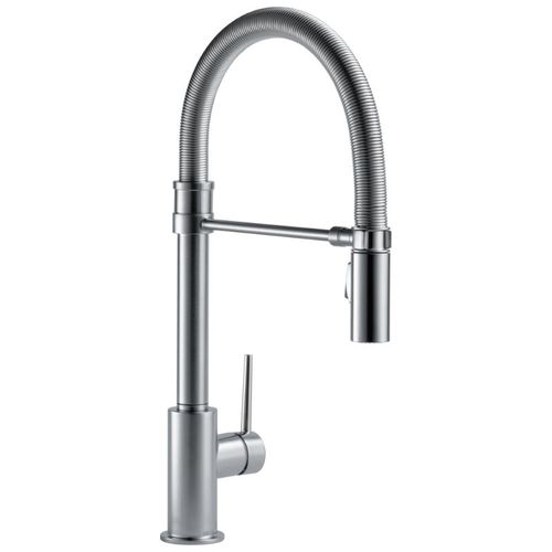 Delta Trinsic Pre-Rinse Kitchen Faucet in Arctic Stainless - 9659-AR-DST
