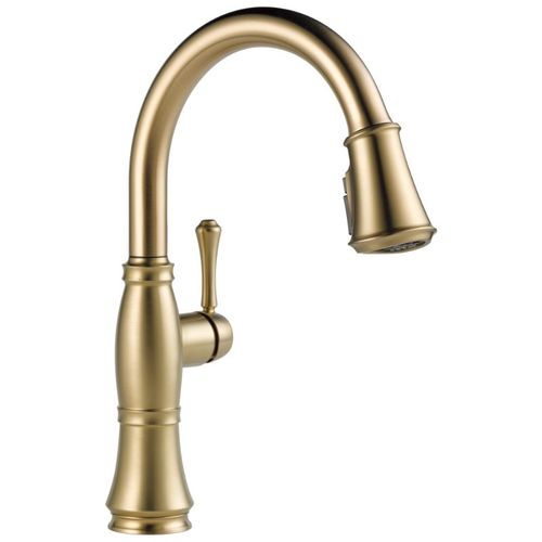Delta Cassidy Pull-Down Kitchen Faucet in Lumicoat Champagne Bronze - 9197-CZ-PR-DST