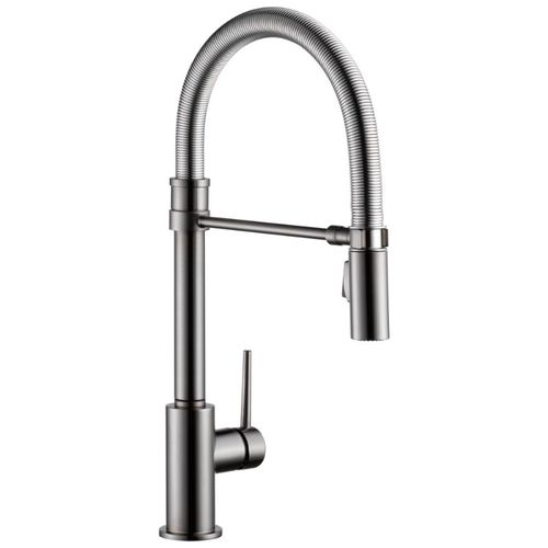 Delta Trinsic Pull-Down Kitchen Faucet in Black Stainless - 9659-KS-DST