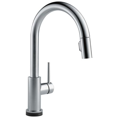 Delta Trinsic Pull-Down Kitchen Faucet in Arctic Stainless with Touch Control - 9159T-AR-DST