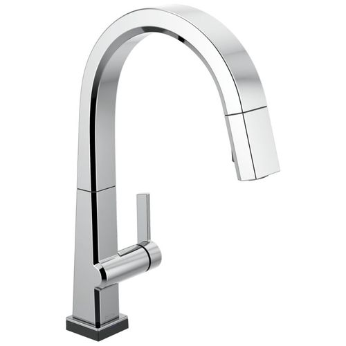 Delta Pivotal Pull-Down Kitchen Faucet in Chrome with Touch Control - 9193T-DST