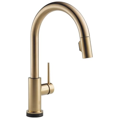 Delta Trinsic Pull-Down Kitchen Faucet in Champagne Bronze with Touch Control - 9159T-CZ-DST