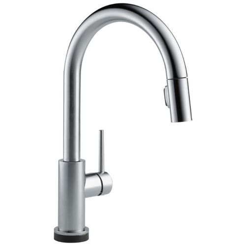 Delta Trinsic Pull-Down Kitchen Faucet in Arctic Stainless with Touch and Voice Control - 9159TV-AR-DST