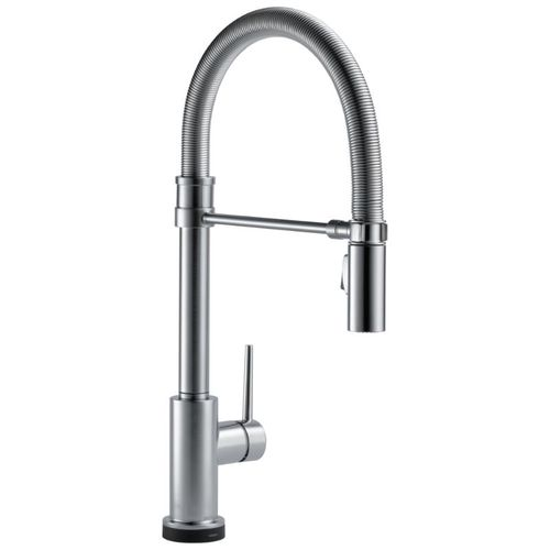 Delta Trinsic Pre-Rinse Kitchen Faucet in Arctic Stainless with Touch Control - 9659T-AR-DST