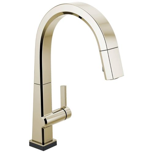 Delta Pivotal Pull-Down Kitchen Faucet in Polished Nickel - 9193T-PN-DST