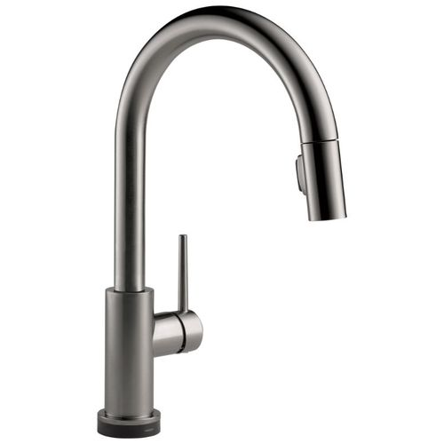Delta Trinsic Pull-Down Kitchen Faucet in Black Stainless with Touch Control - 9159TV-KS-DST