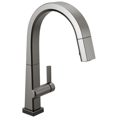 Delta Pivotal Pull-Down Kitchen Faucet in Black Stainless - 9193T-KS-DST