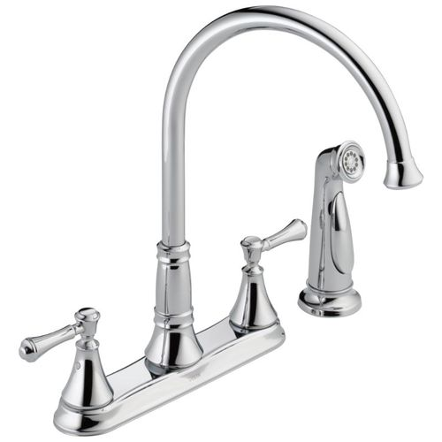 Delta Cassidy Two-Handle Kitchen Faucet in Chrome - 2497LF