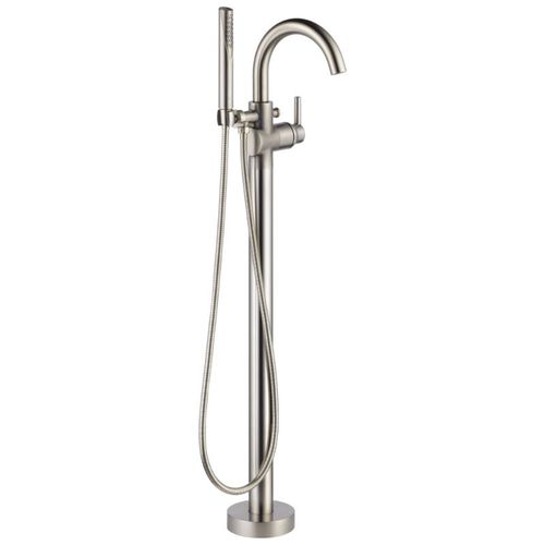 Trinsic Single-Handle Freestanding Roman Tub Filler Faucet in Stainless