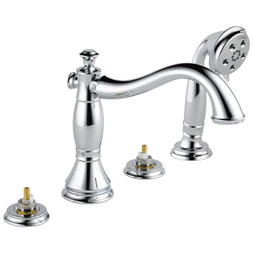 Cassidy Roman Tub Faucet in Chrome - Less Handle