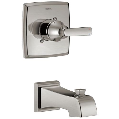 Ashlyn Single-Handle Shower Trim Tub Spout Faucet in Stainless