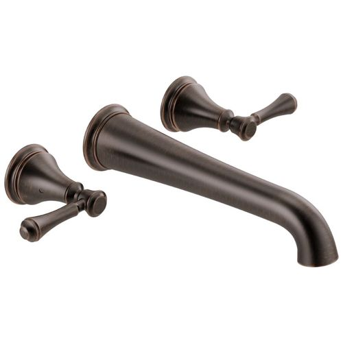 Cassidy Two-Handle Wall Mount Tub Filler Faucet in Venetian Bronze
