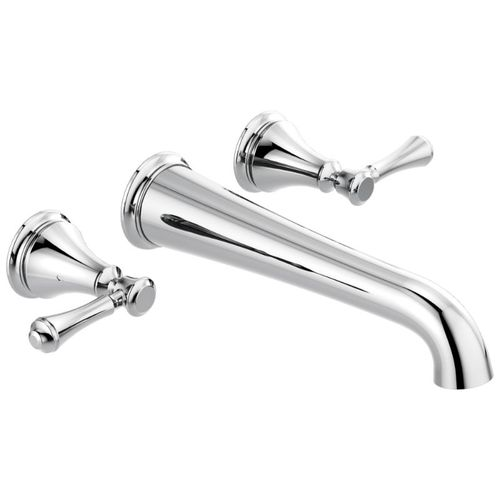 Cassidy Two-Handle Wall Mount Tub Filler Faucet in Chrome