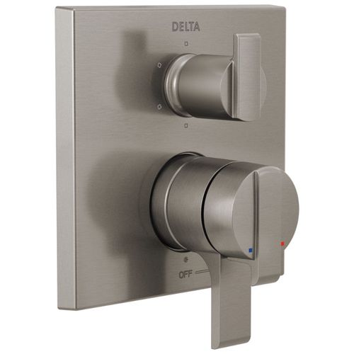 Ara Two-Handle Control Trim in Stainless with Volume & Temperature Control
