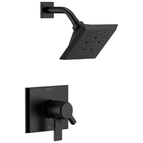 Pivotal Single-Handle Shower Only in Matte Black with Volume & Temperature Control
