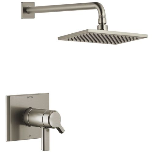 Pivotal Single-Handle Shower Only in Stainless - Single Spray Setting