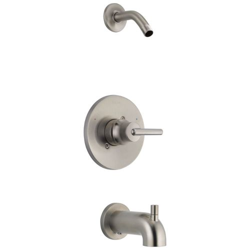 Trinsic Single-Handle Tub & Shower in Stainless - Less Showerhead