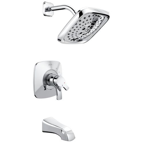 Tesla Two-Handle Tub & Shower in Chrome