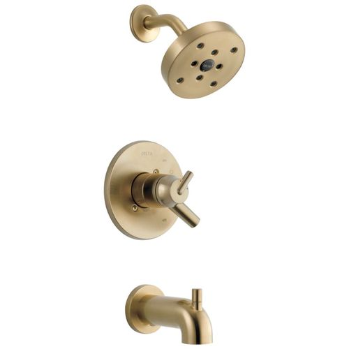 Trinsic Single-Handle Tub & Shower in Champagne Bronze with Volume & Temperature Control