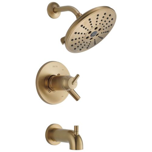 Trinsic Two-Handle Tub & Shower in Champagne Bronze