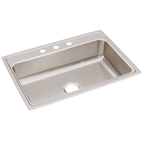 """Lustertone Classic 22"""" x 31"""" x 7.63"""" Stainless Steel Single-Basin Drop-In Kitchen Sink"""