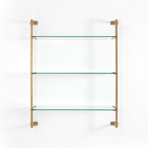 """Collette Wall Shelf in Antique Gold (36"""" x 11.75"""" x 42.75"""")"""