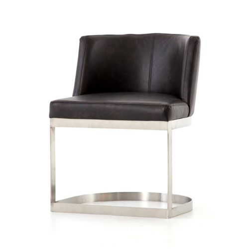 """Wexler Dining Chair in Distressed Black (23.25"""" x 22.75"""" x 30.25"""")"""