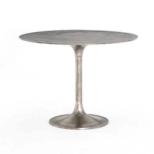 """Simone Dining Table in Raw Antique Nickel (42"""" x 42"""" x 31"""")"""