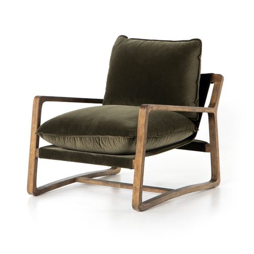 """Ace Chair in Olive Green (30"""" x 37.5"""" x 31"""")"""