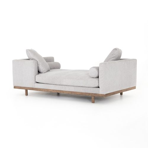 """Brady Chaise in Vail Silver (85"""" x 50"""" x 29"""")"""