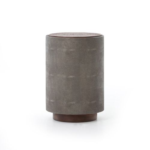 """Crosby Side Table in Charcoal Shagreen (17"""" x 17"""" x 24.5"""")"""